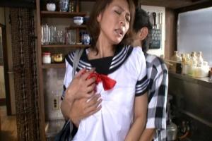 矢部寿恵 憧れの義母に催眠をかける息子!セーラー服でコスプレさせてパンツの脇からまんこを鑑賞