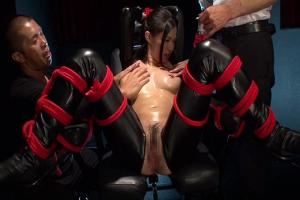 水嶋杏樹 緊縛拘束すれてしまったキャットスーツの女捜査官!オモチャで凌辱され性的拷問