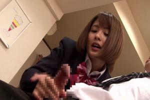夏目優希 嫁の妹のギャルJKにテーブルの下から手コキで虐められちゃった!