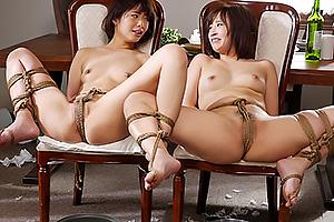 川上奈々美 きみと歩実 マンコに縄が食い込み拘束される美人姉妹クリトリス責めで絶頂
