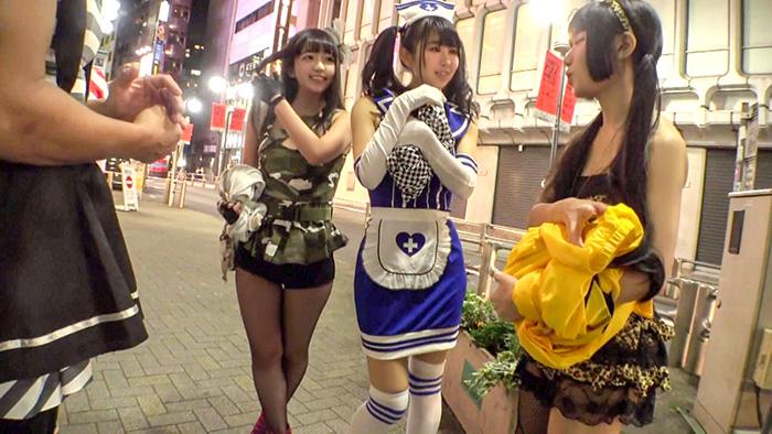 渋谷の街でハッピーハロ淫ナンパ!!オフパコ人数×××人のエロコスレイヤーが泥酔メス堕ち!淫乱ナース姿で大絶叫の鬼ピス交尾記録を未承認公開ww