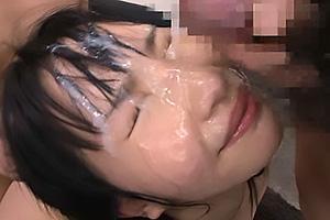 和葉みれい 清楚な黒髪美少女はドMな変態娘!3Pファックでザーメンをぶっかけられ白濁まみれ
