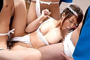 吉沢明歩 美乳スレンダー美女がふんどしをマンコに食い込ませ誘惑乱交SEX