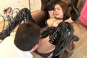 吉川あいみ 媚薬ですっかりM女矯正クラブで爆乳ボンデージのおまんこクンニと電マ責めの絶頂アクメ