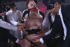 中村知恵 社長に嵌められ性奴隷と化した巨乳OL!首輪をつけられ緊縛されて体を弄ばれる