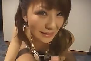 小沢菜穂 ドレス姿のスレンダー美人なレジェンド女優!ちんぽをフェラ抜きして口内射精