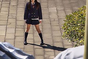 通野未帆悪に立ち向かう美少女JKヒロイン!触手による攻撃で首絞めされて大ピンチ