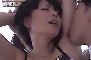 三浦恵理子 Fカップ巨乳の美熟女叔母と近親相姦!脇の下を舐めまわされ感じてしまう