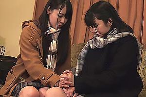 月野ゆりあ 浅田結梨 発情した制服姿の美少女JK達!濃厚なレズキスを交わし互いの股間をクンニ責め