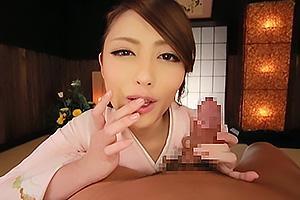 桜井あゆ 着物姿の超絶美女が淫語を発しながらちんぽを責める!手コキとフェラに絶頂射精