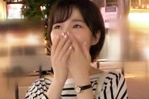 【ナンパTV】オナニーしながらご奉仕する隠れ巨乳の女子大生がFカップを揺らして喘ぎまくる