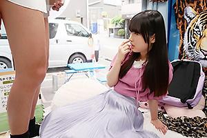 【マジックミラー号】関西弁の激カワ娘をナンパ!オナニーを見せつけセンズリ鑑賞させたらセックス開始