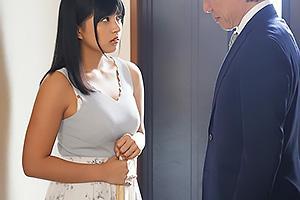 根尾あかり 脅迫されて夫の上司に犯されてしまう巨乳妻!玄関先で激しく手マンされ潮吹き絶頂