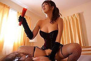 三上悠亜 網タイツにボンテージ姿でSM調教してくる彼女の姉!騎乗位挿入でNTRセックスされちゃう