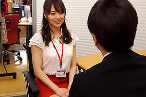吉沢明歩 モデル級スタイルの美人OLが経費節減のため自社下着モデルに社内のチンポたちをヌキまくる