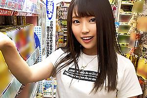 【素人】桃(19) 小悪魔コスを披露してくれる巨乳美少女と宅飲み!電マオナニーを手マンでお手伝い