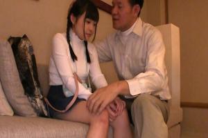 二ノ宮せな 143cmの三つ編みロリ美少女がホテル直行でエッチなアルバイト!