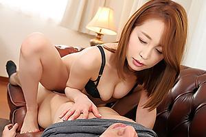 篠田ゆう 痴女な巨乳お義姉ちゃんのSEX練習クンニで発情生チンポに騎乗位仰け反り激しく腰振り暴発中出し