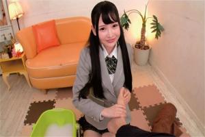 松本いちか 跡美しゅり スレンダー制服美少女が足裏マッサージ!イチャラブセックスでザーメンぶっかけ