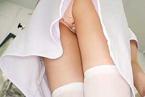 【素人】エリナさん(23) パンチラ美尻がエロすぎる色白ナース!病室で淫乱まんこを立ちバック