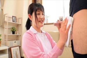 凪乃ゆいり ちんぽを優しく拭いてくれる美人ナース!着衣素股で濡れてしまい中出しファック