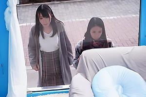 【マジックミラー号】清楚な女子大生をナンパしてMM号に連れ込む!インタビューしながらデカマラ即ハメ