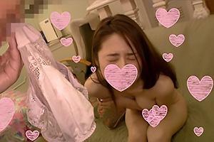 ひかり(29) スレンダーな体にFカップ巨乳の京都弁妻!下着の匂いを堪能したらパイパンまんこに挿入
