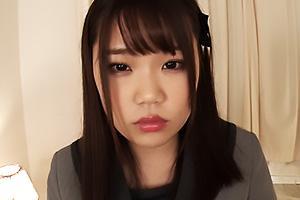 持田栞里 黒パンストを着衣した制服アイドルが枕営業!電マを股間に押し当て中出しセックス