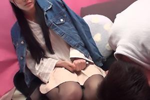 宇佐木あいか 黒髪でクール系のお姉さんをガチナンパ!電マでびしょ濡れのまんこにザーメン中出し