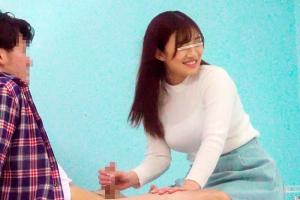 友達同士の男女がエッチな脱出ゲームに挑戦!激カワ女子大生の手コキとパイズリに大興奮