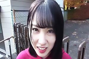 堀北わん つるぺたちっぱいの貧乳美少女JK!乳首をビンビンにしながらオモチャでオナニー