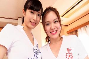 中条カノン 平川琴菜 美人エステティシャン2人のオイルマッサージ手コキで絶頂射精