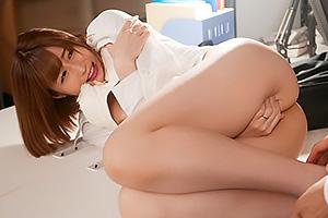藤森里穂 残業中に部長に無理やり迫られるショートカットのモチ肌美白の人妻社員!