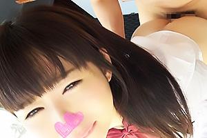 【素人】ねんぽよ(18) アイドル級の透明感を持つ清楚系JK!ガン突きバックで責められ完全服従