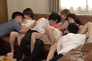 加藤ももか 紺野ひかる シェアハウスで行われた男女6人による酒池肉林の大乱交セックス