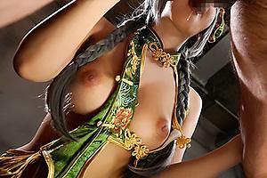 三上悠亜 セクシーなコスプレした巨乳の国民的アイドル!肉棒をフェラしてザーメンをぶっかけられる
