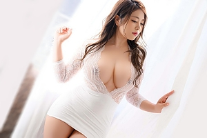 【金谷うの 動画】Iカップ爆乳に96㎝巨尻のきらびやかなセレブ美人人妻マドンナデビュー