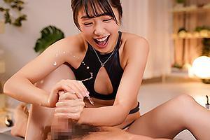 川上奈々美 激エロ痴女なメンズエステティシャン!激しい手コキで男の潮吹きさせられる