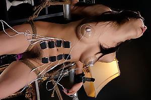 倉木しおり 美保結衣 全裸で拘束した巨乳美女を性的拷問!乳首とまんこを装置で責められアへ顔絶頂
