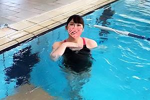 【素人】わか 世界大会出場のガチアスリートとハメ撮り!競泳水着のGカップ爆乳おっぱい娘を激ピス