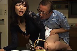 碧しの 義父と関係を持ってしまう美人妻!NTRちんぽをぶち込まれ近親相姦セックス