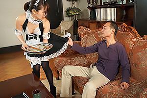 向井藍 メイド服を着衣させられ叔父の性奴隷になってしまう美人妻!近親相姦セックスでNTR中出し