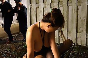 織田真子 性奴隷調教されてしまう爆乳おっぱいの人妻OL!野外で肉棒挿入され青姦ファック