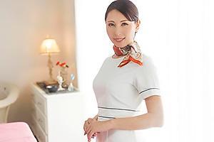 佐田茉莉子 四十路熟女の美人エステティシャンがエッチなマッサージ!全裸になって騎乗位で合体